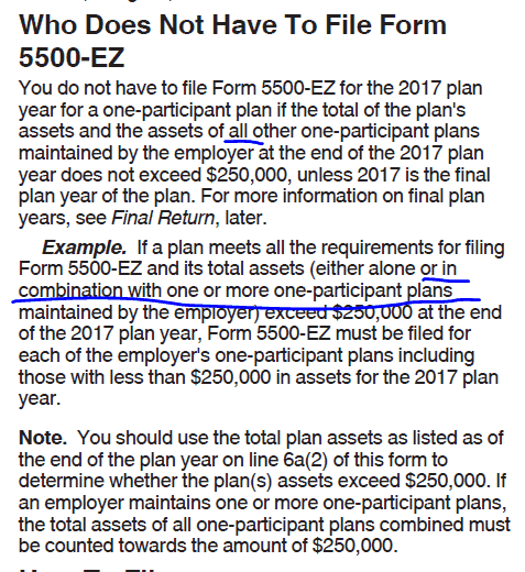 Solo 401k Form 5500 Ez Faqs